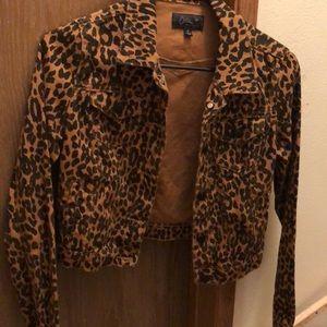 Brown leopard jacket